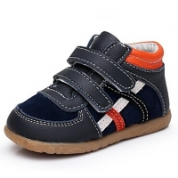 Leather Boys' Flat Heel Comfort Fashion Sneaker with Magic Tape Shoes(More Colors)