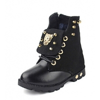 Childern's Shoes Combat Boots Mid-Calf Boots with Lace-up and Rivet Shoes More colors available