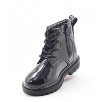 Children's Round Toe Low Heel Leather Boots with Lace-up(More Colors)