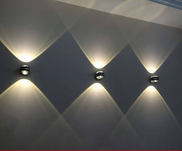 Small Led Wall Lights : DIY lighting colors brief modern mirror aisle lamp up and down LED wall light small crystal ...