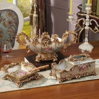 European - style creative luxury Decoration living room home decorations ashtray