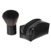 Professional Makeup Tool Large Size Powder Blusher Brush Leather Bag