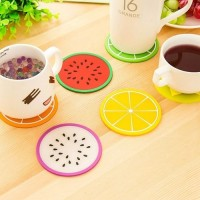 5Pcs Fruit Style Durable Round Heat Resistant Cups Mat Coaster Kitchen Tool