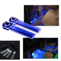 4 in 1 Car LED interior ambient lighting atmosphere within the automotive supplies decorative lights 7 Color