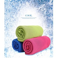 FireAngels 2PCs Cooling Towel for Instant Relief - Cool Bowling Fitness Yoga Towels - 100*30 Use as Cooling Neck Headband Bandana Scarf,Stay Cool for Travel Camping Golf Football &Outdoor Sports(Rose Red & Blue)