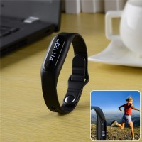 2015 intelligent wearable smart bracelet Bluetooth USB cable interface IOS Android sports bracelet with black pedometer