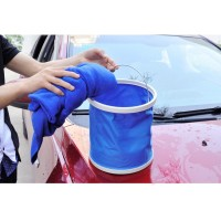 Portable Folding Telescopic Bucket Car Car Wash / Camping / Hiking / Travel Bucket Fishing storage buckets 11L - Blue