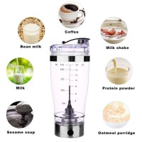 Electric Protein Shaker Blender Portable Powder Coffee Milk Juice Mixer Bottle