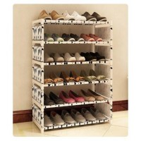 Simple new creative small dust-proof steel frame assembly of multi-functional 6-layer economic shoe cabinet shoe special