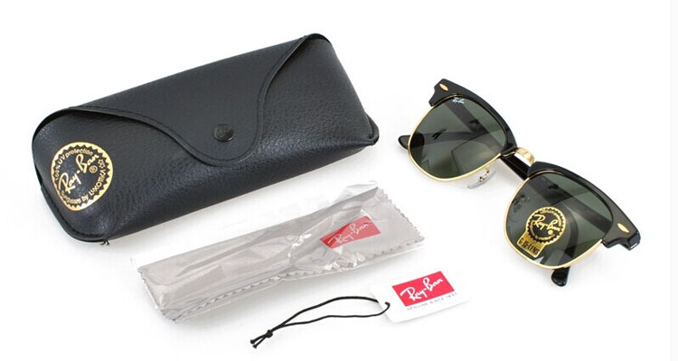 49mm ray ban  ray-ban rb3016 clubmaster