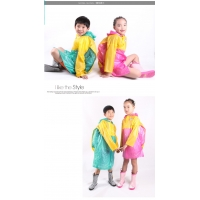 The disposable raincoat thickening outdoor raincoat children raincoat with bag a tourist hiking mountain climbing school