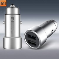 Original Xiaomi Car Charger Dual USB 5V/3.6A Volt Quick Charge Full Metal Competiable with Most Phones Tablet PC