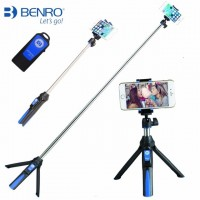BENRO MK10 Handheld Mini Tripod 3 in 1 Self-portrait Monopod Phone Selfie Stick with Bluetooth Remote Shutter for iPhone Sumsang Gopro