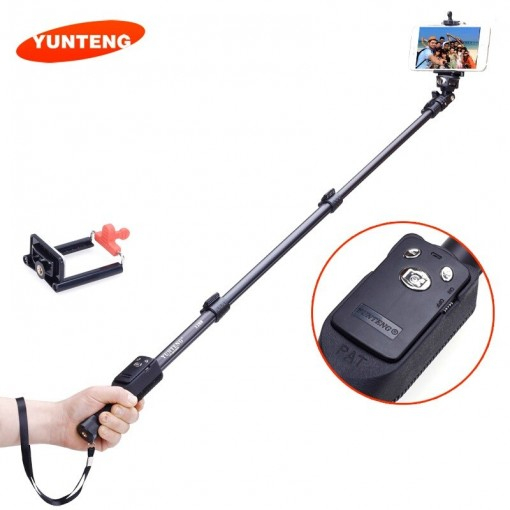 YunTeng®​ 1288 Bluetooth Extendable Selfie Handheld Monopod Tripod YT-1288 Portable Holder with Shutter Release For Cameras Phone