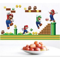 Super Mario children's bedroom home decor remover can be removed from sticky wallpaper LM7015