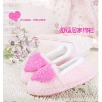 Winter season bag with cotton slippers warm cartoon home cotton padded shoes caring thickening bottom plush slippers