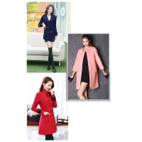 2015 fasion seals Autumn cashmere woolen coat sanding double-sided cloth wool coat clothing DIY thick woolen fabrics