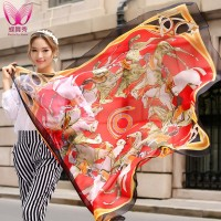 Chiffon long silk scarf autumn and winter female scarf travel large facecloth cape beach towel