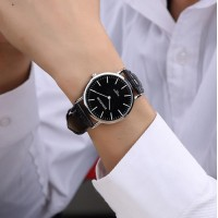 Brief fashion casual men and women watches ultra-thin Strap Watch