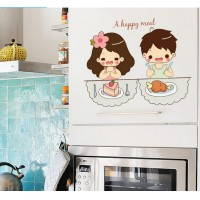Personality cartoon wall stickers Can remove waterproof couple sitting room bedroom wall decorative glass shop window wall stickers Can remove waterproof couple sitting room bedroom wall decorative glass shop window
