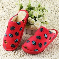 new antiskid warm cotton slippers slippers for men and women Home Furnishing home indoor Ladybug lovers winter cotton shoes