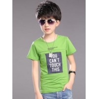 The boy's new summer wear t-shirts, casual cotton short sleeve