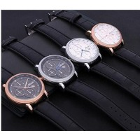 Contracted leather strap quartz watch Men's watch Fashion table of high-grade fashionable dress