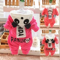 Infant autumn 1 - 2 - 3 long-sleeve baby boy set children's clothing female child spring and autumn 6 - 9 baby clothes