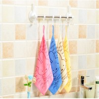 Microfiber Cloth Thicker Washing Bowl Water Absorbing Towel Lanyard Small Square Scarf Kitchen Cleaning Scouring Pad 25*25CM