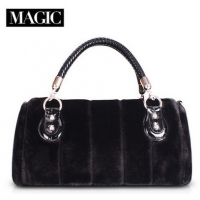 2014 autumn and winter fur female wrapping bales crocodile bag Europe evening bag