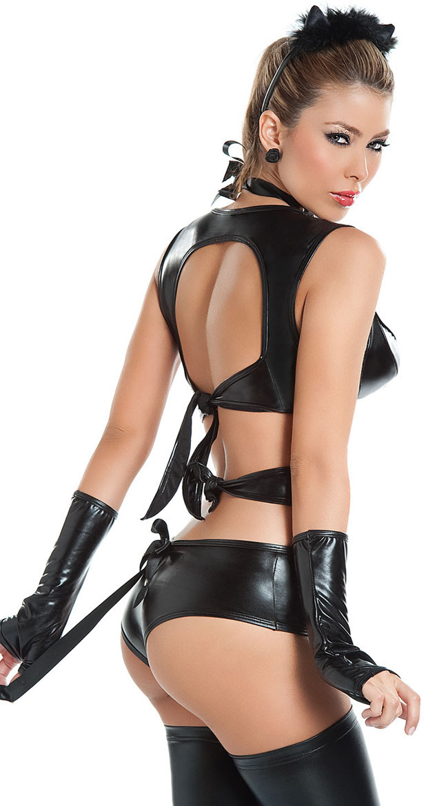 European And American Models Patent Leather Catwoman Game
