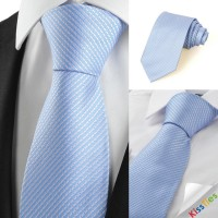 New Striped Blue Grey Formal Men's Tie Necktie Wedding Party Holiday Gift