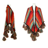 Woman's Bohemia Style Scarf Wraps Wool Knitting Tippet Shawls With Tassels Winter Autumn Dressing Up Accessories HX704