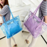 Transparent Handbag Shoulder Bag Clear Jelly Purse Women Clutch PVC Tote Fashion