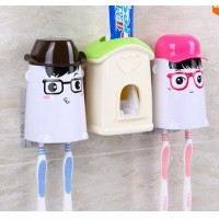 New automatically toothpaste of a lazy man suit with tooth brush holder Korean creative cartoon toothpaste squeezer 1 set