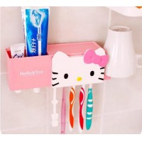South Korea's creative cartoon strong chuck type toothpaste toothbrush rack shelf Lovely bathroom wall absorption mouthwash 1 se