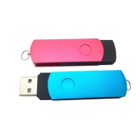 Shenzhen manufacturers supply creative rotation USB 3 wholesale zinc alloy casing can print LOGO gift USB