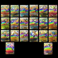 20pcs New Mega EX Pokemon Cards Charizard Pack In English XY Shiny Palying Game Card Set Gift for Kids