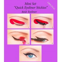 Quick Eyeliner Stickies Stickers Eye Makeup Tool STARTER SET 36 Pcs