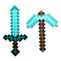 Minecraft Foam Diamond Sword 24 inch