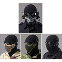 Tactical Equipment Paintball Strike Steel Half Face Mask for Airsoft