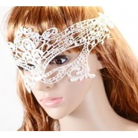 European and American retro black and white lace sexy dance festival masks Crown Gothic style mask