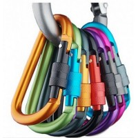 Interlocking outdoor safety buckle multicolor aluminum carabiner hook mountaineering camping hiking