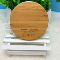 New Arrival Bamboo Type Wireless Charge Pad+Universal Negative Reciver For Samsung And Other Android Mobile Phones High Quality