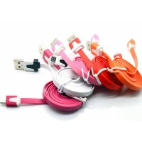New Arrival 1M Colorful Noodle Cable for Mobile Phone High Quality
