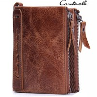 New Arrival Smart Design Double Chain Leather Wallet For Man High Quality