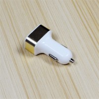 New Arrival Universal 5V 2.1A+1A+1A 2USB Slot Car Charger For Mobile Phone High Quality