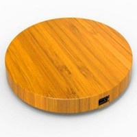 New Arrival Bamboo Type Wireless Charge Pad+Reciver For Iphone High Quality