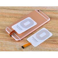 New Arrival Crystal Type Wireless Charge Pad+ Reciver For Iphone High Quality