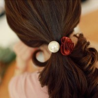 76319 Rose pearl headdress hair accessories, flower hair ring